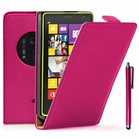 Nokia Lumia 1020/ EOS/ 909/ RM-875/ RM-877/ RM-876: Etui Rabattable Verticale en cuir PU + Stylet - ROSE