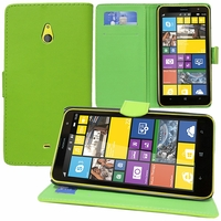Nokia Lumia 1320/ RM-994/ RM-995/ RM-996: Etui portefeuille Support Video cuir PU - VERT