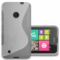 Nokia Lumia 530/ 530 Dual Sim/ RM-1017/ RM-1019: Coque silicone Gel motif S au dos - TRANSPARENT