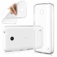 Nokia Lumia 630/ 630 3G/ 635/ 638/ RM-974/ RM-975/ RM-976: Coque Silicone gel UltraSlim et Ajustement parfait - TRANSPARENT