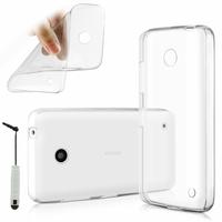 Nokia Lumia 630/ 630 3G/ 635/ 638/ RM-974/ RM-975/ RM-976: Coque Silicone gel UltraSlim et Ajustement parfait + mini Stylet - TRANSPARENT