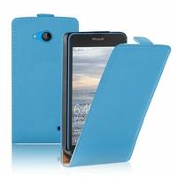 Microsoft Nokia Lumia 640 LTE/ 640 LTE Dual SIM/ 640 Dual SIM: Etui Rabattable Verticale en cuir PU - BLEU