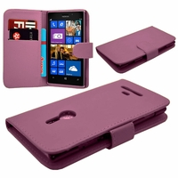 Nokia Lumia 925: Etui portefeuille Livre Housse Coque Pochette cuir PU - VIOLET