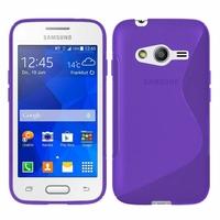 Samsung Galaxy Trend 2 Lite SM-G318H: Coque silicone Gel motif S au dos - VIOLET