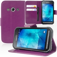 Samsung Galaxy Xcover 3 SM-G388F/ Xcover 3 (2016) Value Edition SM-G389F: Etui portefeuille Support Video cuir PU - VIOLET