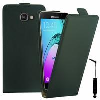 Samsung Galaxy A5 (2016) SM-A510F A510M A510FD A5100 A510Y (non compatible Galaxy A5 (2015)): Etui Rabattable Verticale en cuir PU + mini Stylet - NOIR