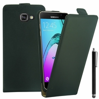 Samsung Galaxy A5 (2016) SM-A510F A510M A510FD A5100 A510Y (non compatible Galaxy A5 (2015)): Etui Rabattable Verticale en cuir PU + Stylet - NOIR