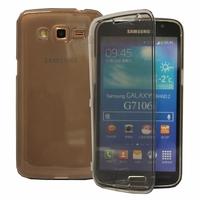 Samsung Galaxy Grand 2 SM-G7100 SM-G7102 SM-G7105 SM-G7106: Coque Silicone gel Livre rabat - GRIS