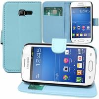 Samsung Galaxy Trend Lite S7390/ Galaxy Fresh Duos S7392: Etui portefeuille Support Video cuir PU - BLEU