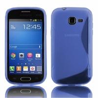 Samsung Galaxy Trend Lite S7390/ Galaxy Fresh Duos S7392: Coque silicone Gel motif S au dos - BLEU