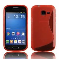 Samsung Galaxy Trend Lite S7390/ Galaxy Fresh Duos S7392: Coque silicone Gel motif S au dos - ROUGE