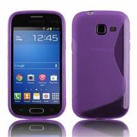 Samsung Galaxy Trend Lite S7390/ Galaxy Fresh Duos S7392: Coque silicone Gel motif S au dos - VIOLET