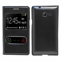Samsung Galaxy Trend Lite S7390/ Galaxy Fresh Duos S7392: Etui flip coque S-View support  - NOIR