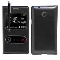 Samsung Galaxy Trend Lite S7390/ Galaxy Fresh Duos S7392: Etui flip coque S-View support  + Stylet - NOIR
