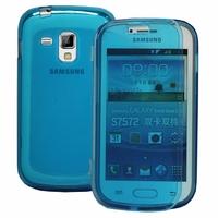 Samsung Galaxy Trend S7560/ Galaxy S Duos S7562/ Ace II X S7560M: Coque Silicone gel Livre rabat - BLEU