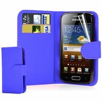Samsung Galaxy Ace S5830/ S5839i/ La Fleur/ Hugo Boss: Etui portefeuille Livre Housse Coque Pochette cuir PU + mini Stylet - BLANC