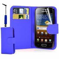 Samsung Galaxy Ace S5830/ S5839i/ La Fleur/ Hugo Boss: Etui portefeuille Livre Housse Coque Pochette cuir PU + Stylet - BLANC