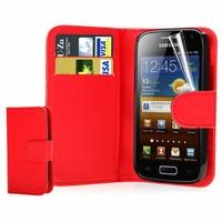 Samsung Galaxy Ace S5830/ S5839i/ La Fleur/ Hugo Boss: Etui portefeuille Livre Housse Coque Pochette cuir PU + mini Stylet - ROSE