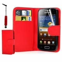 Samsung Galaxy Ace S5830/ S5839i/ La Fleur/ Hugo Boss: Etui portefeuille Livre Housse Coque Pochette cuir PU + Stylet - ROSE