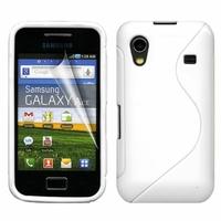 Samsung Galaxy Ace S5830/ S5839i/ La Fleur/ Hugo Boss: Coque silicone Gel motif S au dos - BLANC