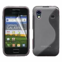 Samsung Galaxy Ace S5830/ S5839i/ La Fleur/ Hugo Boss: Coque silicone Gel motif S au dos - GRIS