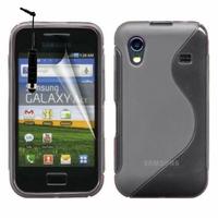 Samsung Galaxy Ace S5830/ S5839i/ La Fleur/ Hugo Boss: Coque silicone Gel motif S au dos + mini Stylet - GRIS