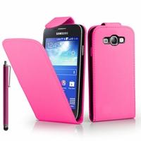 Samsung Galaxy Express I8730/ Express I437: Etui Simili Cuir + Stylet - ROSE