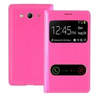 Samsung Galaxy Grand Plus/ Grand Neo/ Grand Lite I9060 I9062 I9060I i9080 I9082: Etui flip coque S-View support  - ROSE