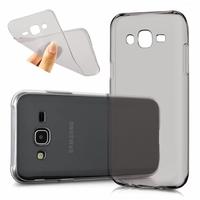 Samsung Galaxy J5 SM-J500F/ J500FN (non compatible Galaxy J5 (2016)): Coque Silicone gel UltraSlim et Ajustement parfait - GRIS