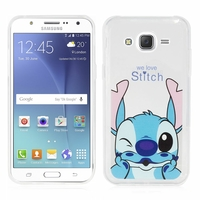Samsung Galaxy J5 SM-J500F/ J500FN (non compatible Galaxy J5 (2016)): Coque silicone Ultra-Fine Dessin animé jolie - Stitch