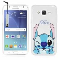 Samsung Galaxy J5 SM-J500F/ J500FN (non compatible Galaxy J5 (2016)): Coque silicone Ultra-Fine Dessin animé jolie + mini Stylet - Stitch