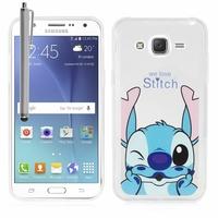Samsung Galaxy J5 SM-J500F/ J500FN (non compatible Galaxy J5 (2016)): Coque silicone Ultra-Fine Dessin animé jolie + Stylet - Stitch