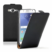 Samsung Galaxy J5 SM-J500F/ J500FN (non compatible Galaxy J5 (2016)): Etui Rabattable Verticale en cuir PU - NOIR