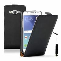 Samsung Galaxy J5 SM-J500F/ J500FN (non compatible Galaxy J5 (2016)): Etui Rabattable Verticale en cuir PU + mini Stylet - NOIR