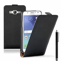 Samsung Galaxy J5 SM-J500F/ J500FN (non compatible Galaxy J5 (2016)): Etui Rabattable Verticale en cuir PU + Stylet - NOIR