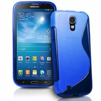 Samsung Galaxy Mega 6.3 I9200/ SGH-i527: Coque silicone Gel motif S au dos - BLEU