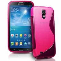 Samsung Galaxy Mega 6.3 I9200/ SGH-i527: Coque silicone Gel motif S au dos - ROSE
