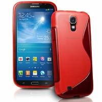 Samsung Galaxy Mega 6.3 I9200/ SGH-i527: Coque silicone Gel motif S au dos - ROUGE