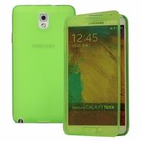 Samsung Galaxy Note 3 Neo / Lite Duos 3G LTE SM-N750 SM-N7505 SM-N7502: Coque Silicone gel Livre rabat - VERT