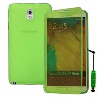 Samsung Galaxy Note 3 Neo / Lite Duos 3G LTE SM-N750 SM-N7505 SM-N7502: Coque Silicone gel Livre rabat + mini Stylet - VERT