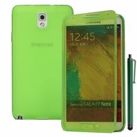 Samsung Galaxy Note 3 Neo / Lite Duos 3G LTE SM-N750 SM-N7505 SM-N7502: Coque Silicone gel Livre rabat + Stylet - VERT