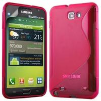 Samsung Galaxy Note N7000/ i9220 LTE: Coque silicone Gel motif S au dos - ROSE
