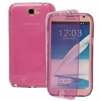 Samsung Galaxy Note 2 N7100/ N7105: Coque Silicone gel Livre rabat - VIOLET