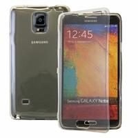 Samsung Galaxy Note 4 SM-N910F/ Note 4 Duos (Dual SIM) N9100/ Note 4 (CDMA)/ N910C N910W8 N910V N910A N910T N910M: Coque Silicone gel Livre rabat - GRIS