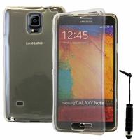 Samsung Galaxy Note 4 SM-N910F/ Note 4 Duos (Dual SIM) N9100/ Note 4 (CDMA)/ N910C N910W8 N910V N910A N910T N910M: Coque Silicone gel Livre rabat + mini Stylet - GRIS