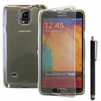 Samsung Galaxy Note 4 SM-N910F/ Note 4 Duos (Dual SIM) N9100/ Note 4 (CDMA)/ N910C N910W8 N910V N910A N910T N910M: Coque Silicone gel Livre rabat + Stylet - GRIS