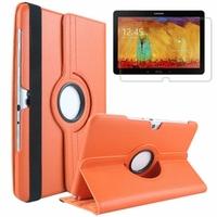 Samsung Galaxy Note 10.1 2014 Edition P600 P601 P605 3G LTE: Etui Cuir PU Support Rotatif 360° - ORANGE