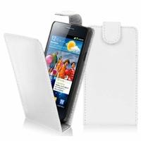 Samsung Galaxy S2 i9100/ i9105G/ Plus: Etui Simili Cuir - BLANC