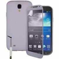 Samsung Galaxy S4 Active I9295/ I537 LTE: Coque Silicone gel Livre rabat + mini Stylet - TRANSPARENT