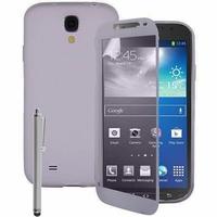 Samsung Galaxy S4 Active I9295/ I537 LTE: Coque Silicone gel Livre rabat + Stylet - TRANSPARENT